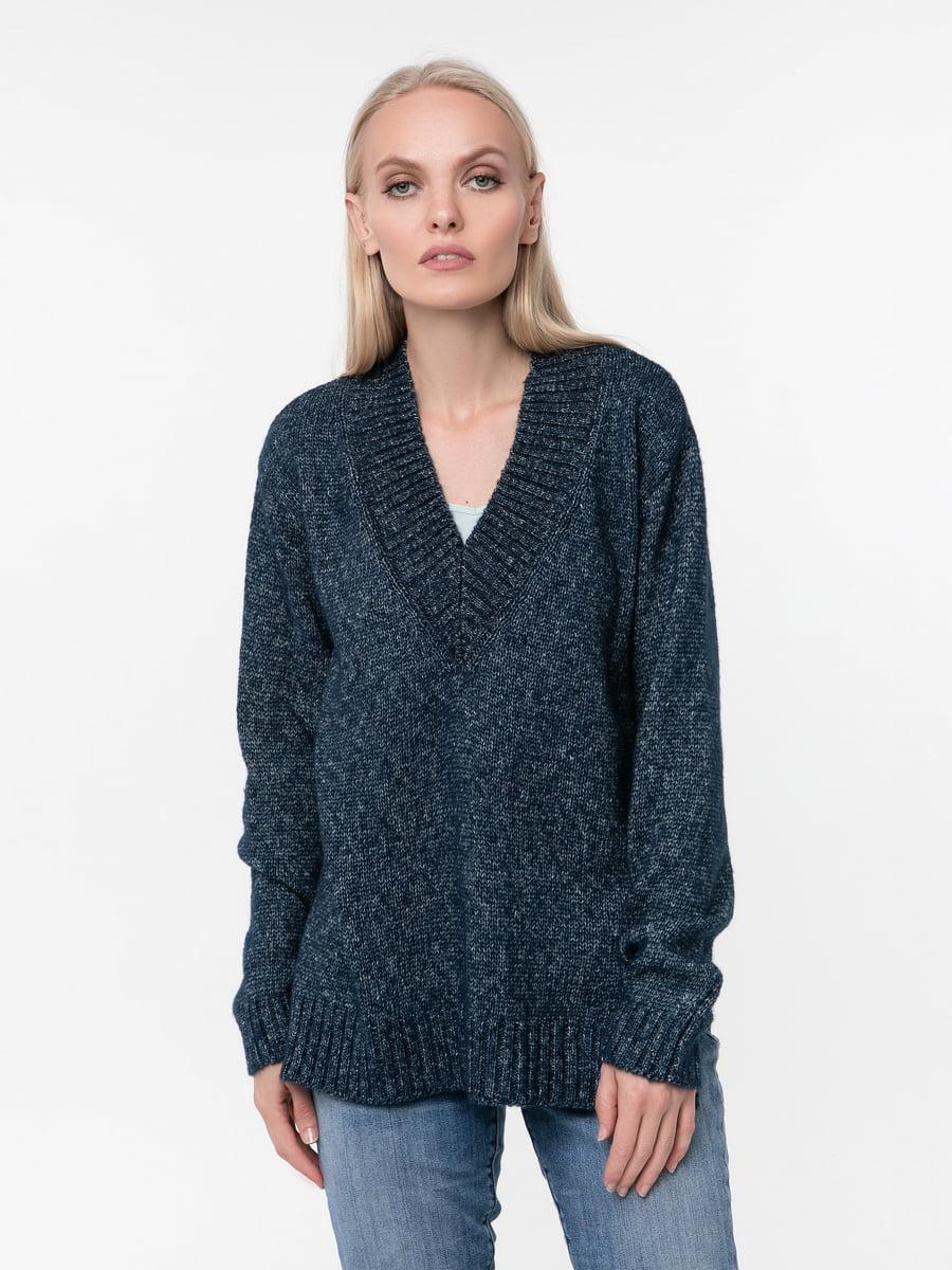 Пуловер темно-синій | 5217207