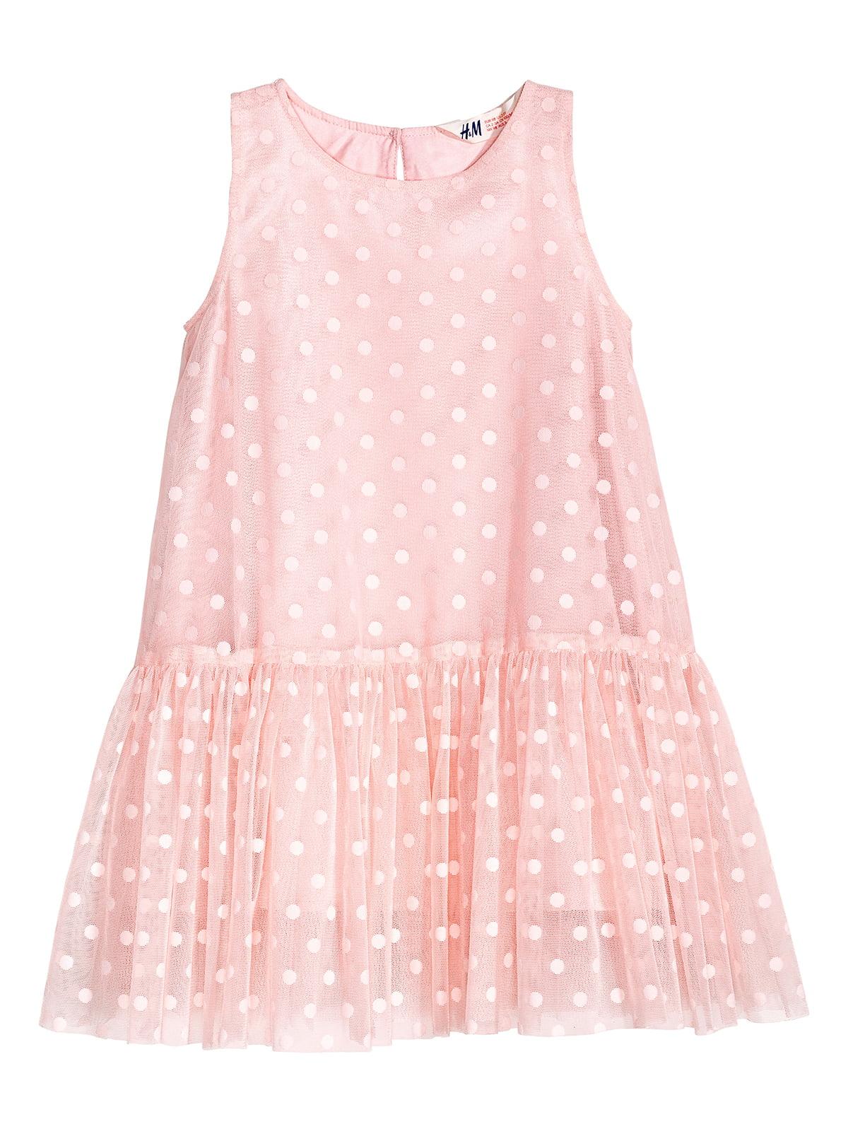Платье розовое в горошек | 5217201