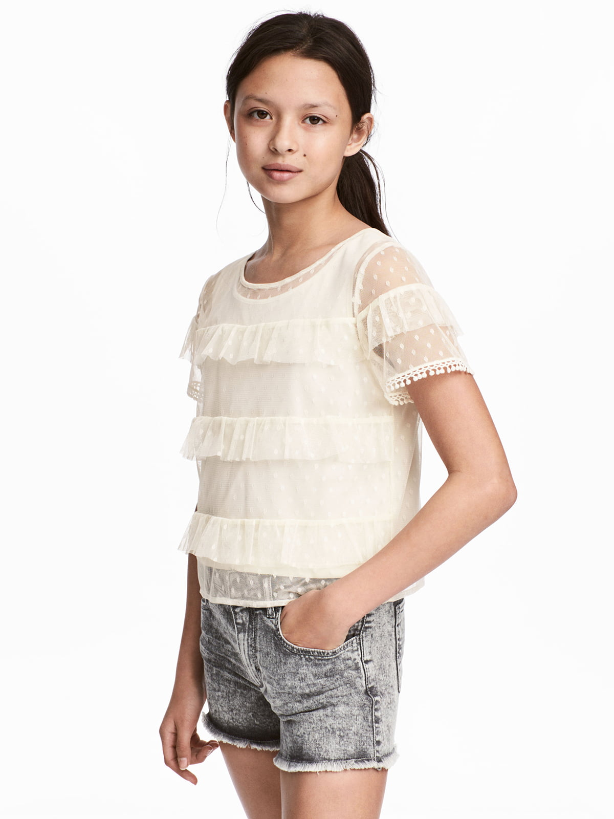 Блуза молочного цвета | 5217316