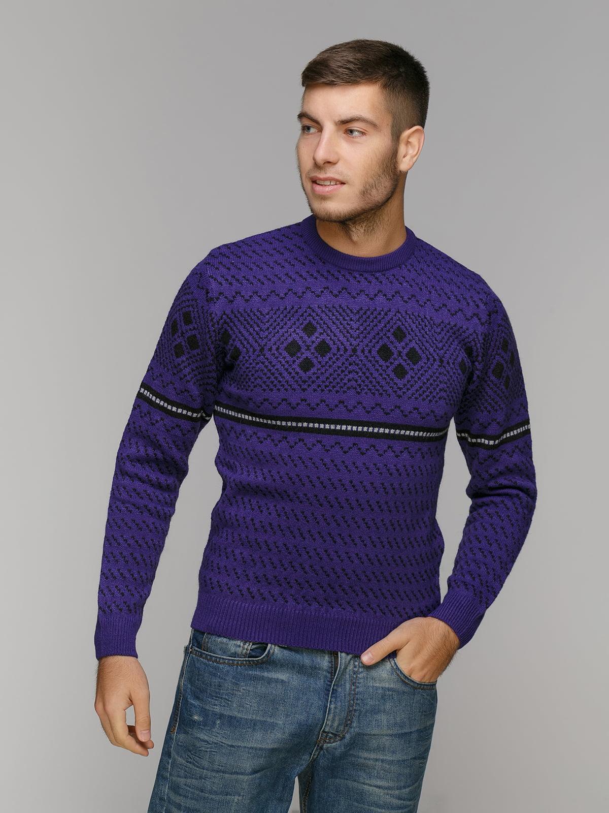 Джемпер фіолетовий в орнамент | 5211476