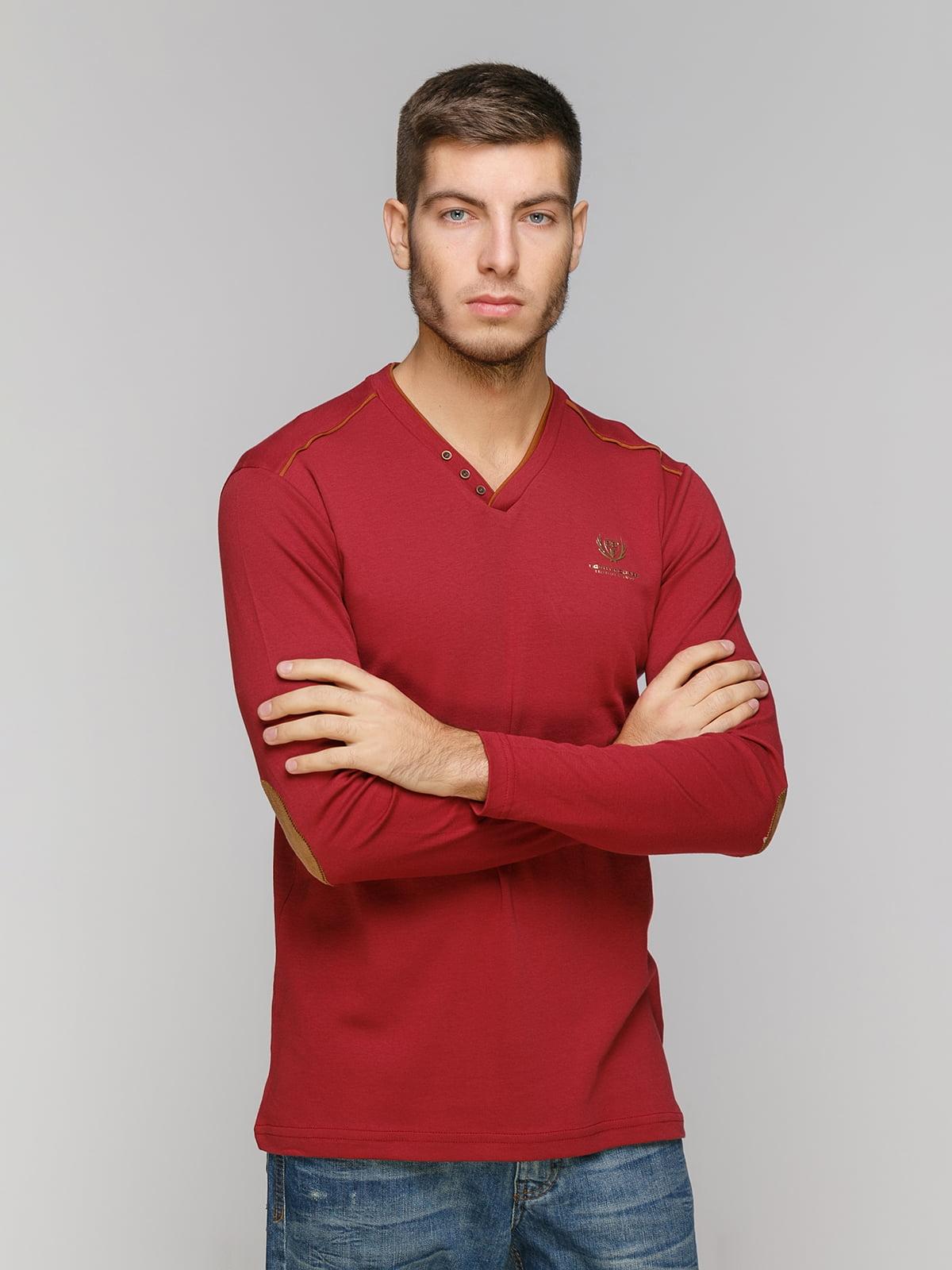 Пуловер бордовый | 5216205