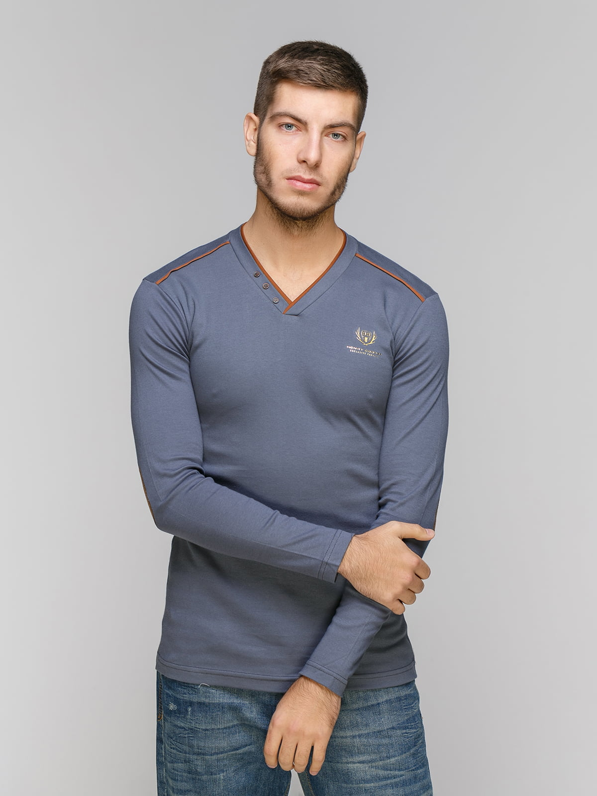 Пуловер темно-серый | 5216241