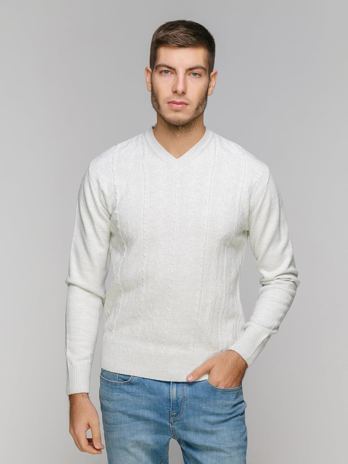 Пуловер светло-серый | 5216229