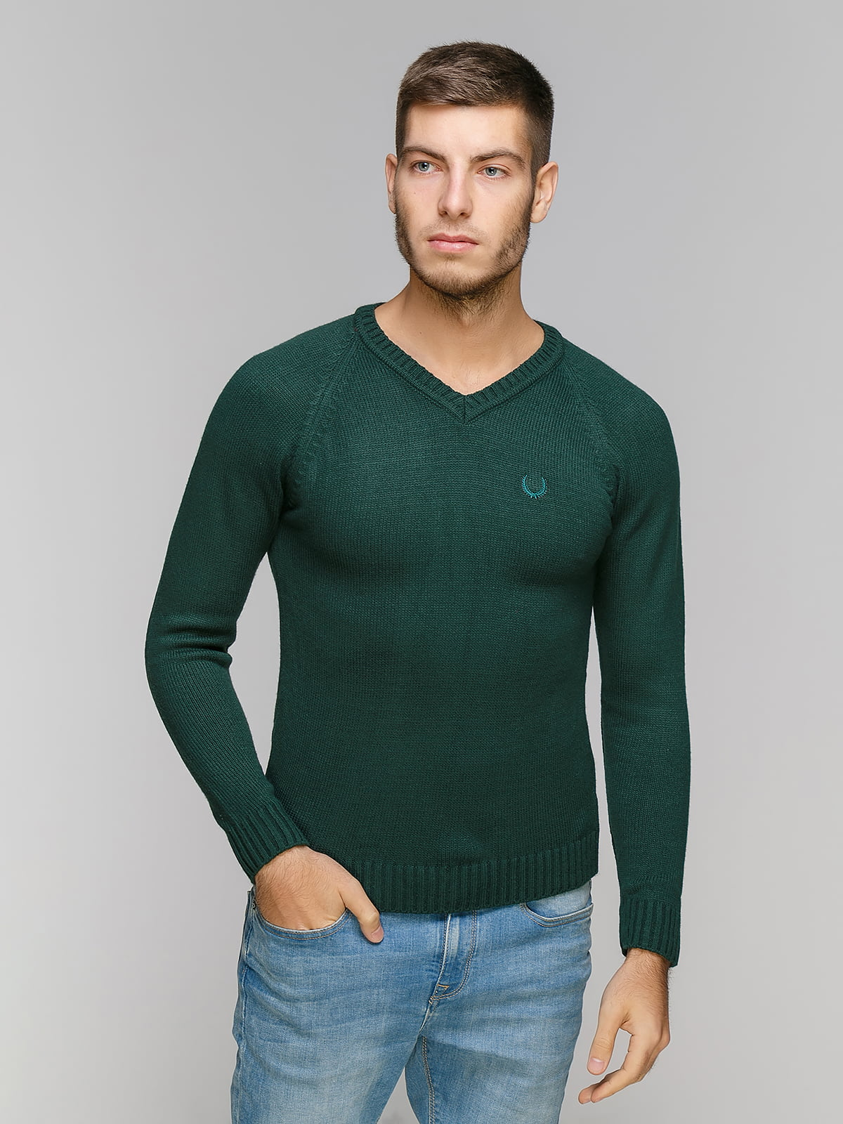 Пуловер зеленый | 5216695