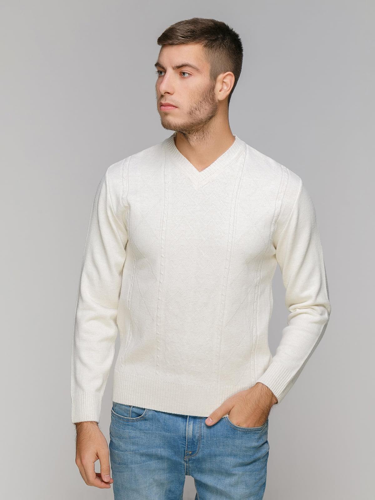 Пуловер светло-бежевый | 5216275