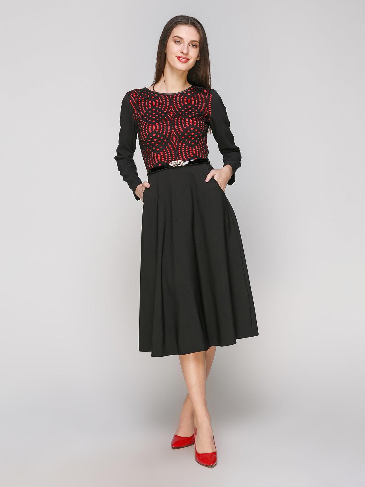 Платье черно-красное | 5206414