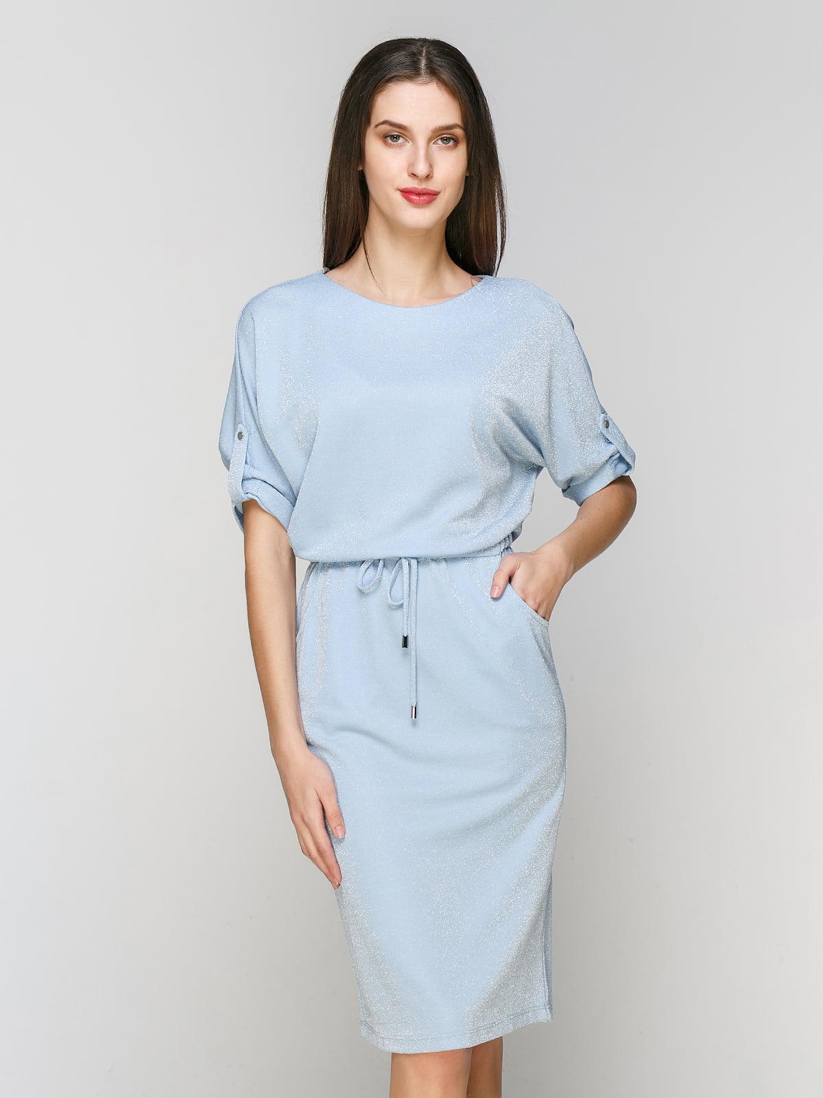 Платье голубое   5206502