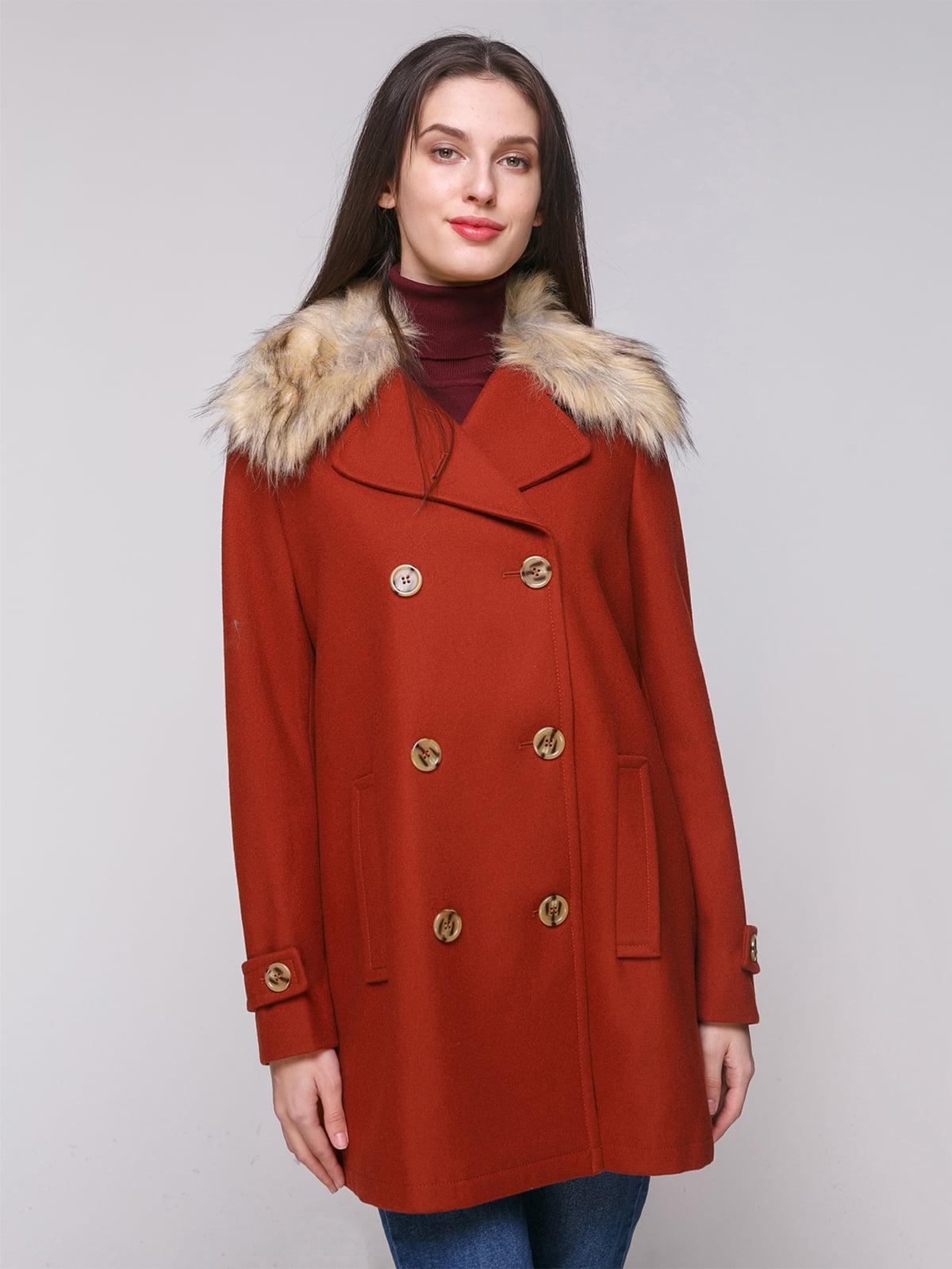 Пальто теракотового кольору | 5174798