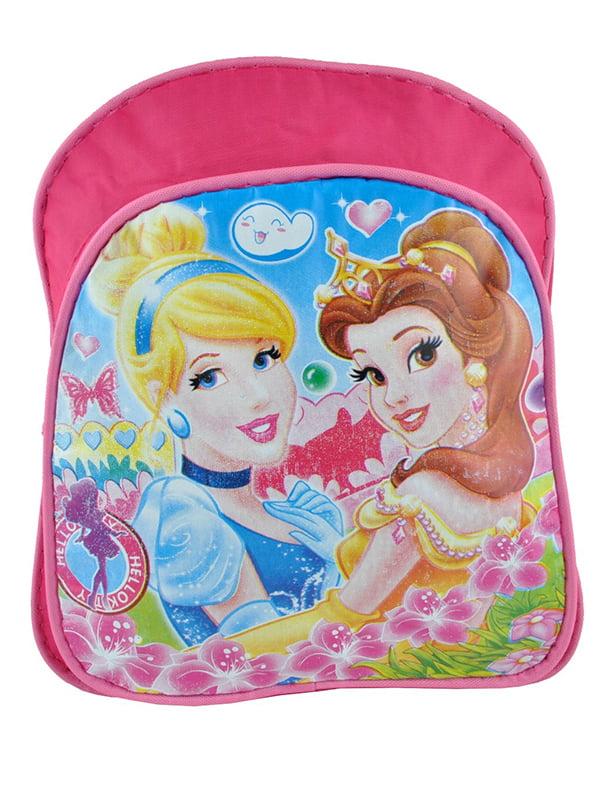 Рюкзак рожевий з принтом | 5219758