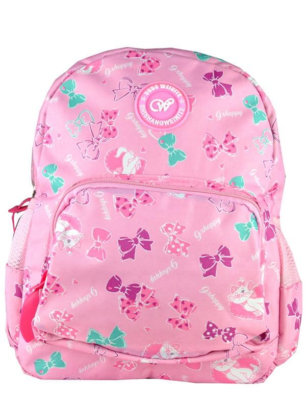 Рюкзак рожевий з принтом | 5219764