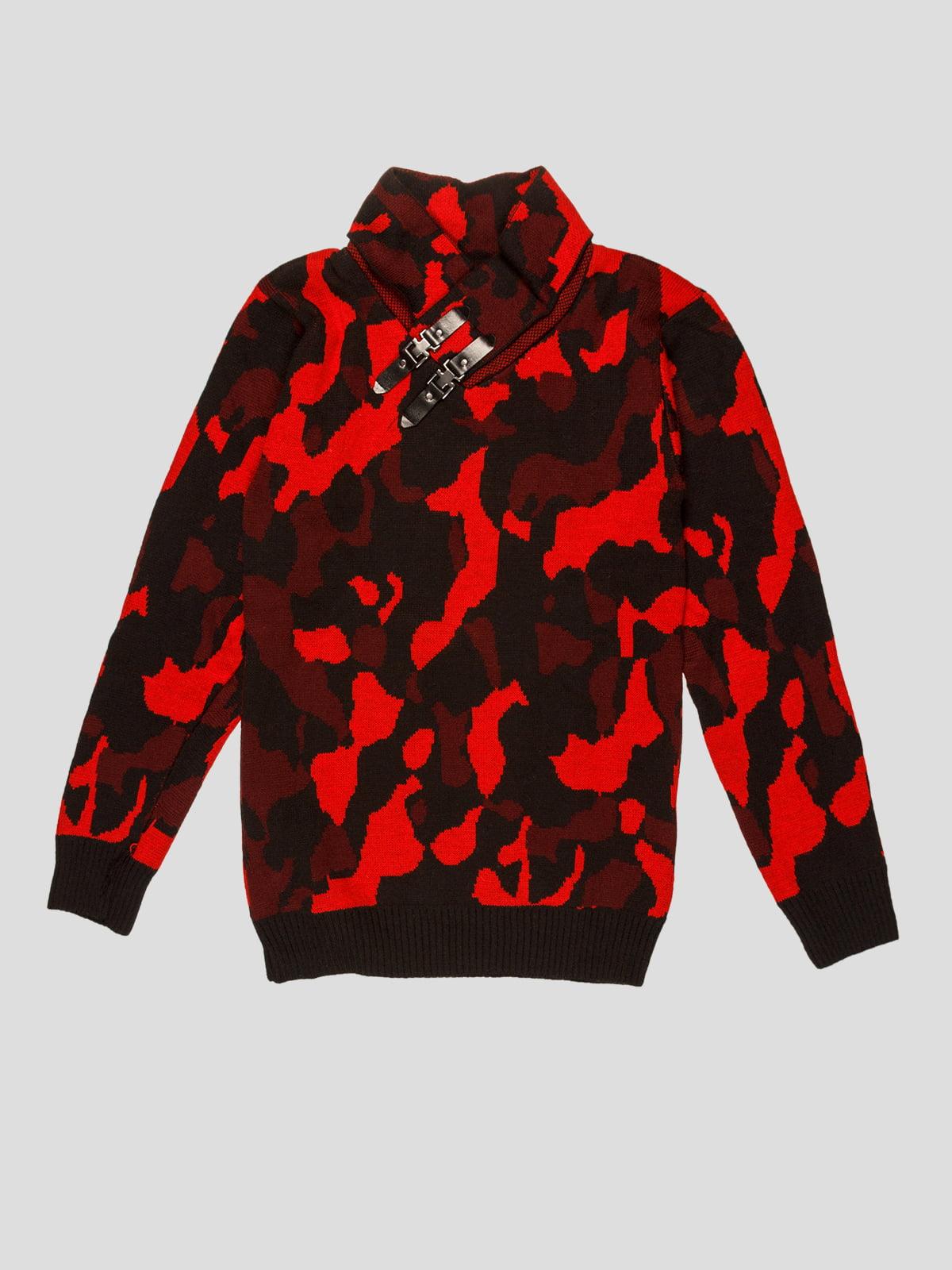 Джемпер красный в принт | 5216257