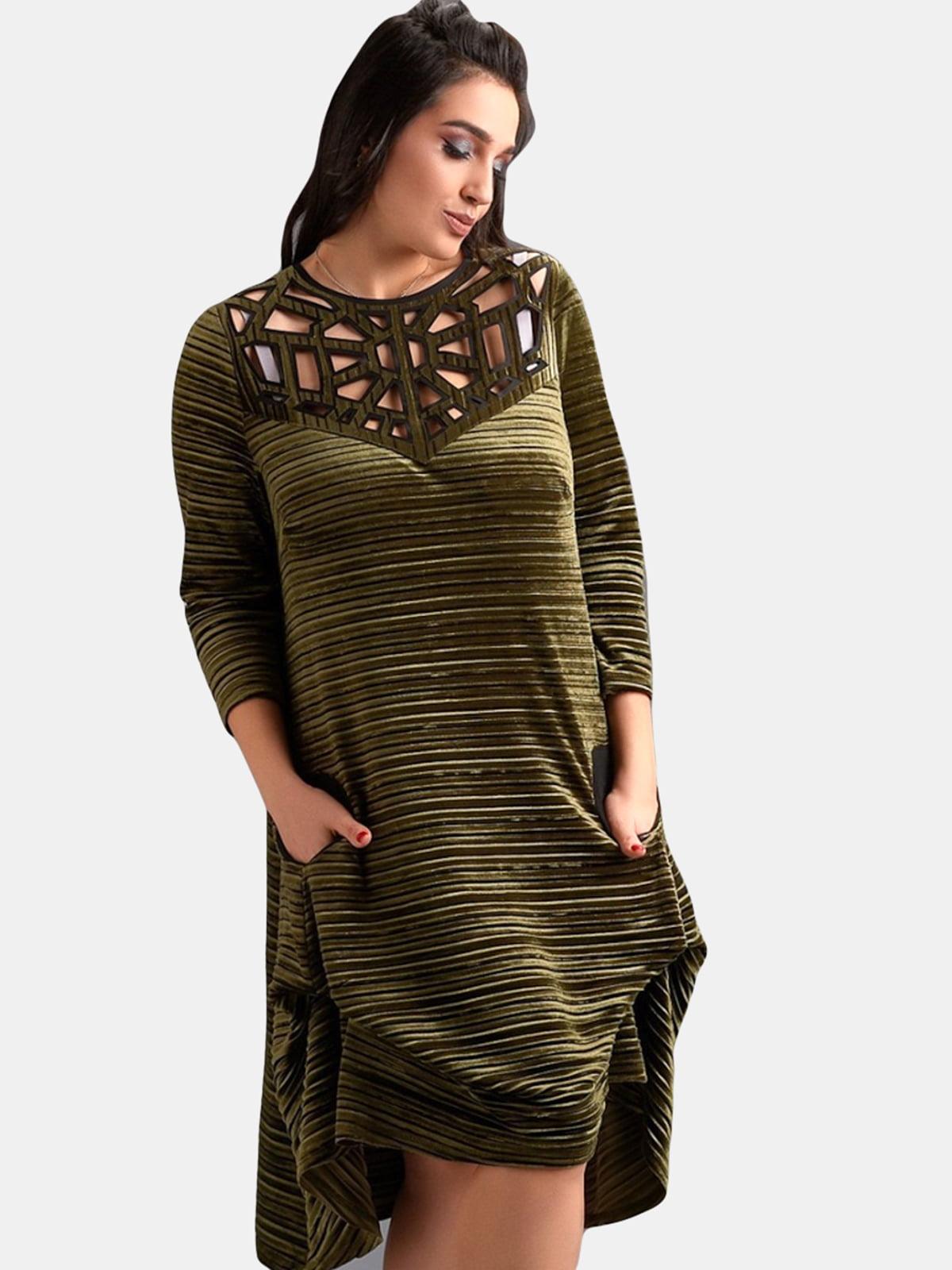 Платье оливкового цвета | 5219810