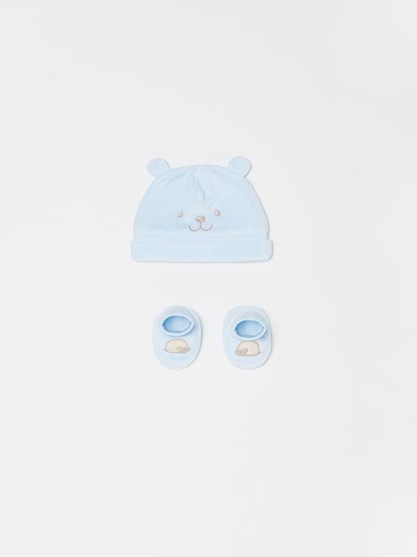 Комплект: шапочка та пінетки   5183692