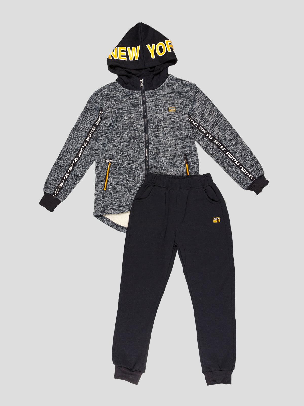 Костюм утеплённый: толстовка и брюки | 5219101