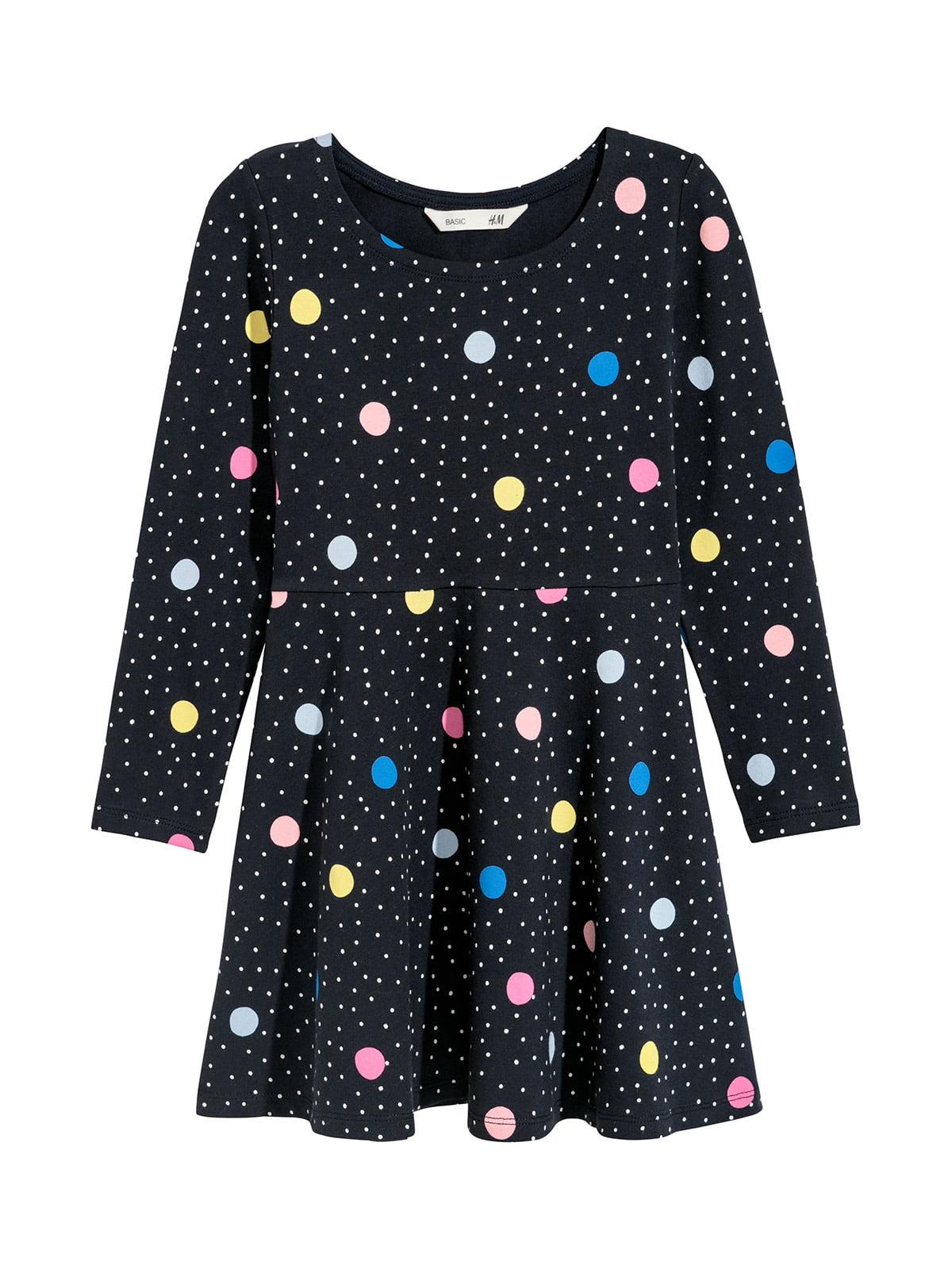 Платье темно-синее в горошек   5217114