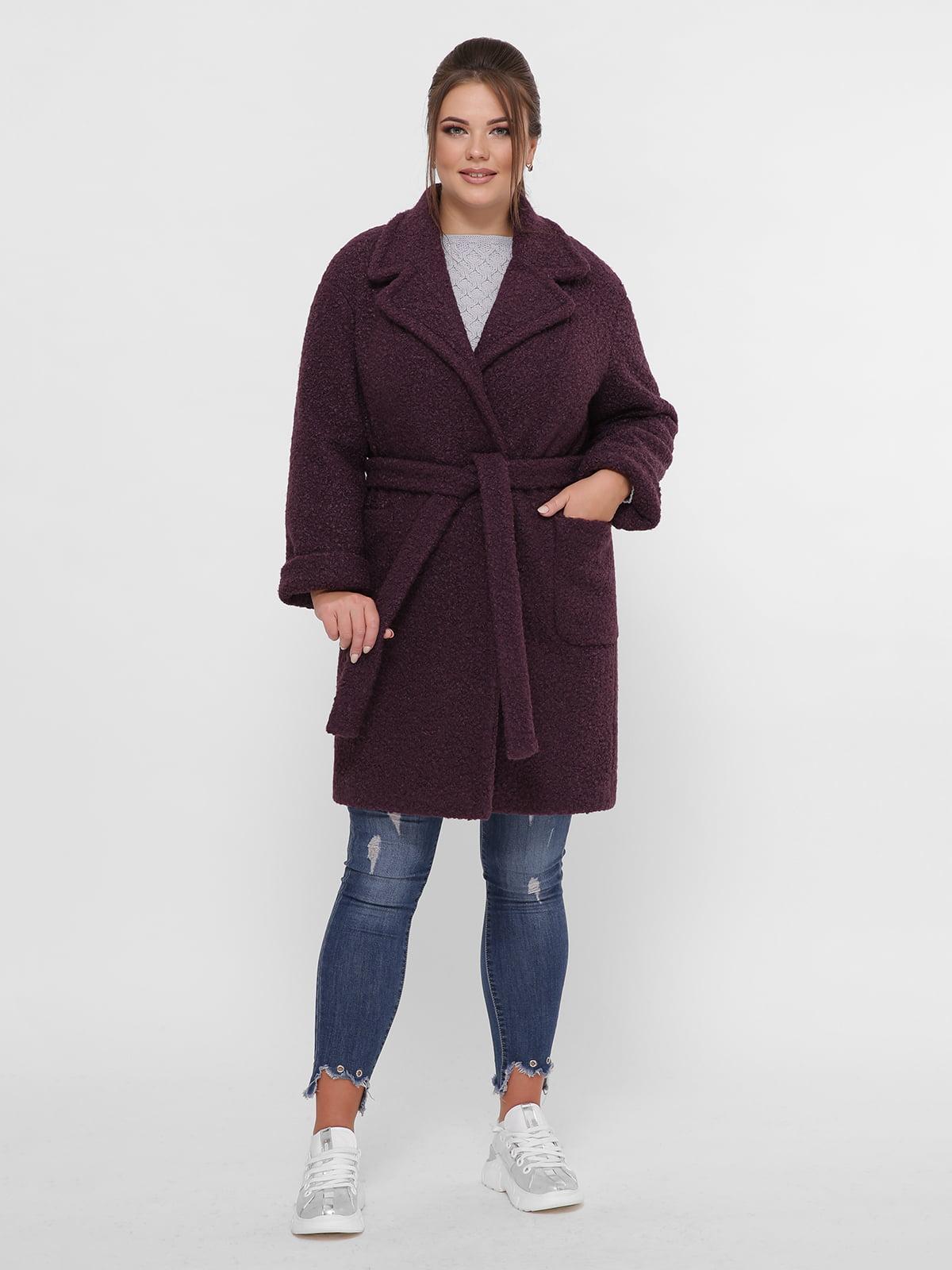 Пальто темно-фиолетовое | 5224199