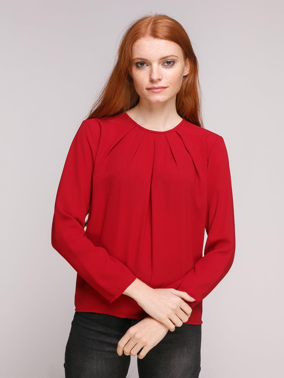 Блуза бордова | 5179658