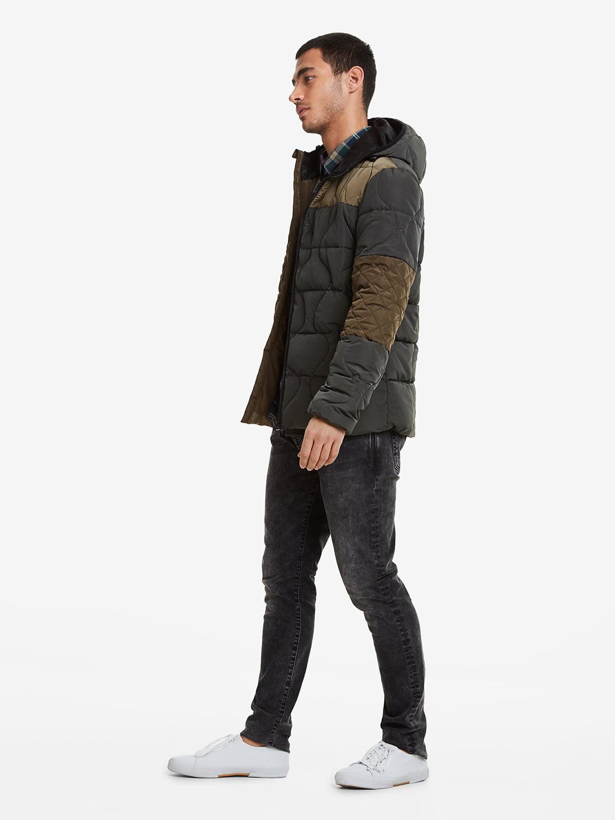 Куртка чорно-коричнева | 5216326