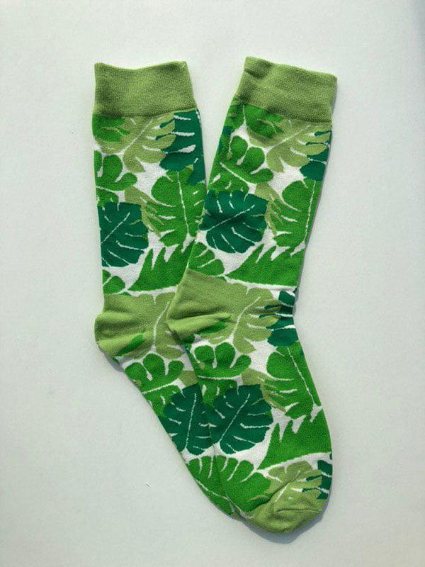 Шкарпетки зелені з малюнком   5225042