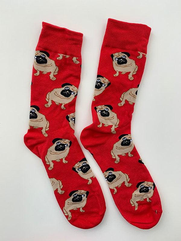 Шкарпетки червоні з малюнком   5225047