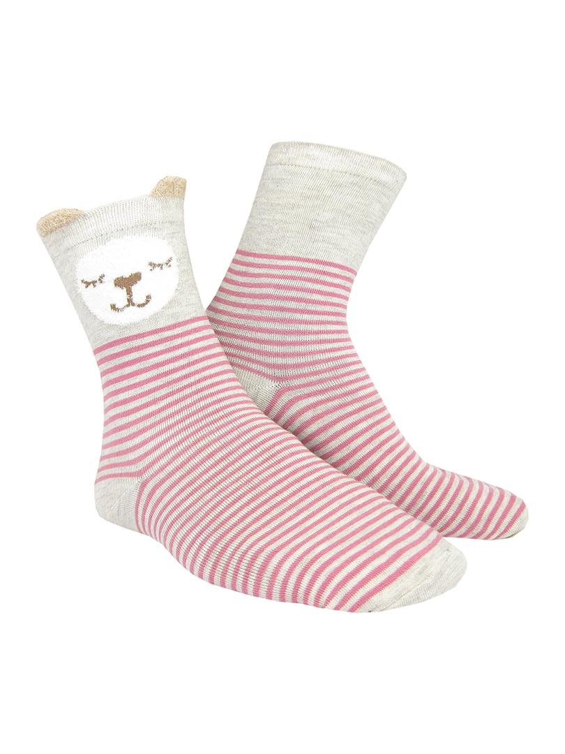 Шкарпетки в смужку з малюнком | 5226031