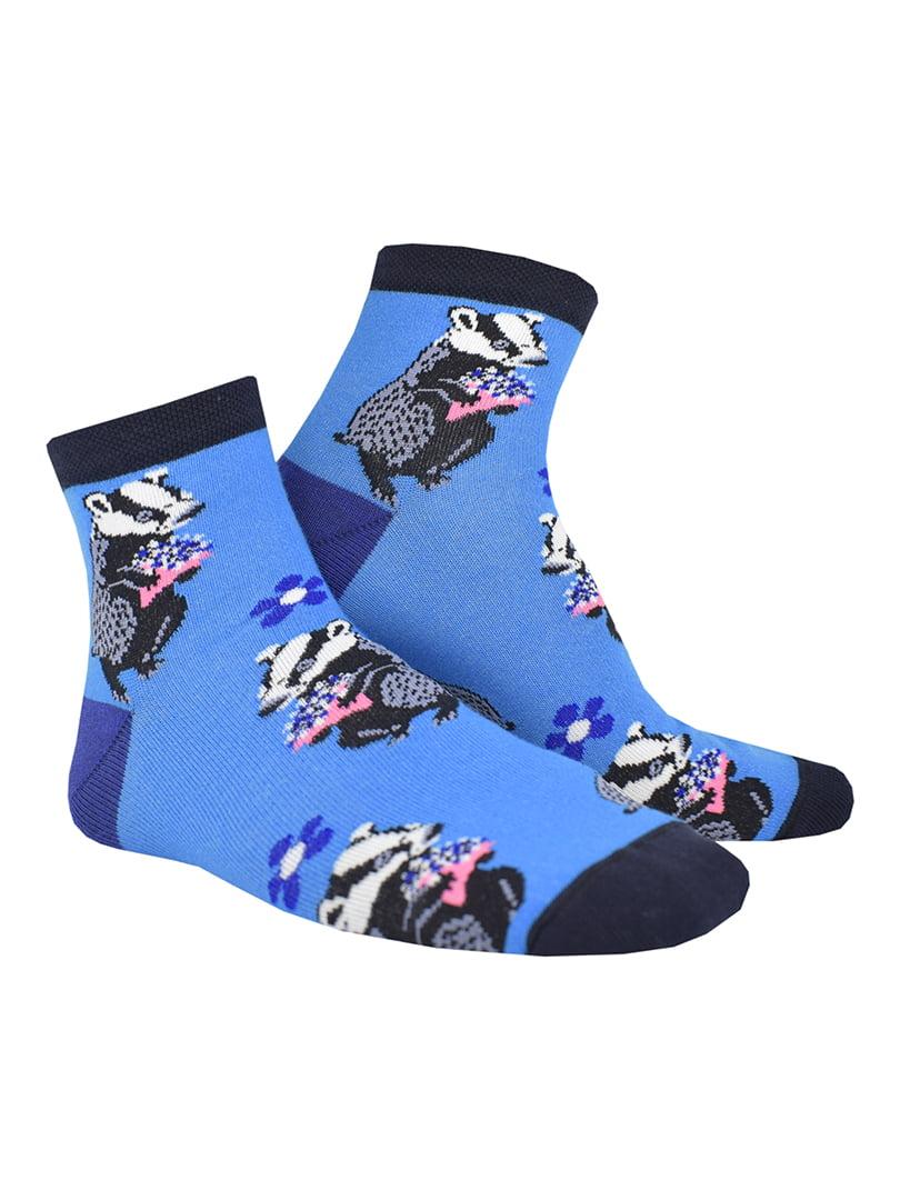 Шкарпетки бірюзові з малюнком | 5226052