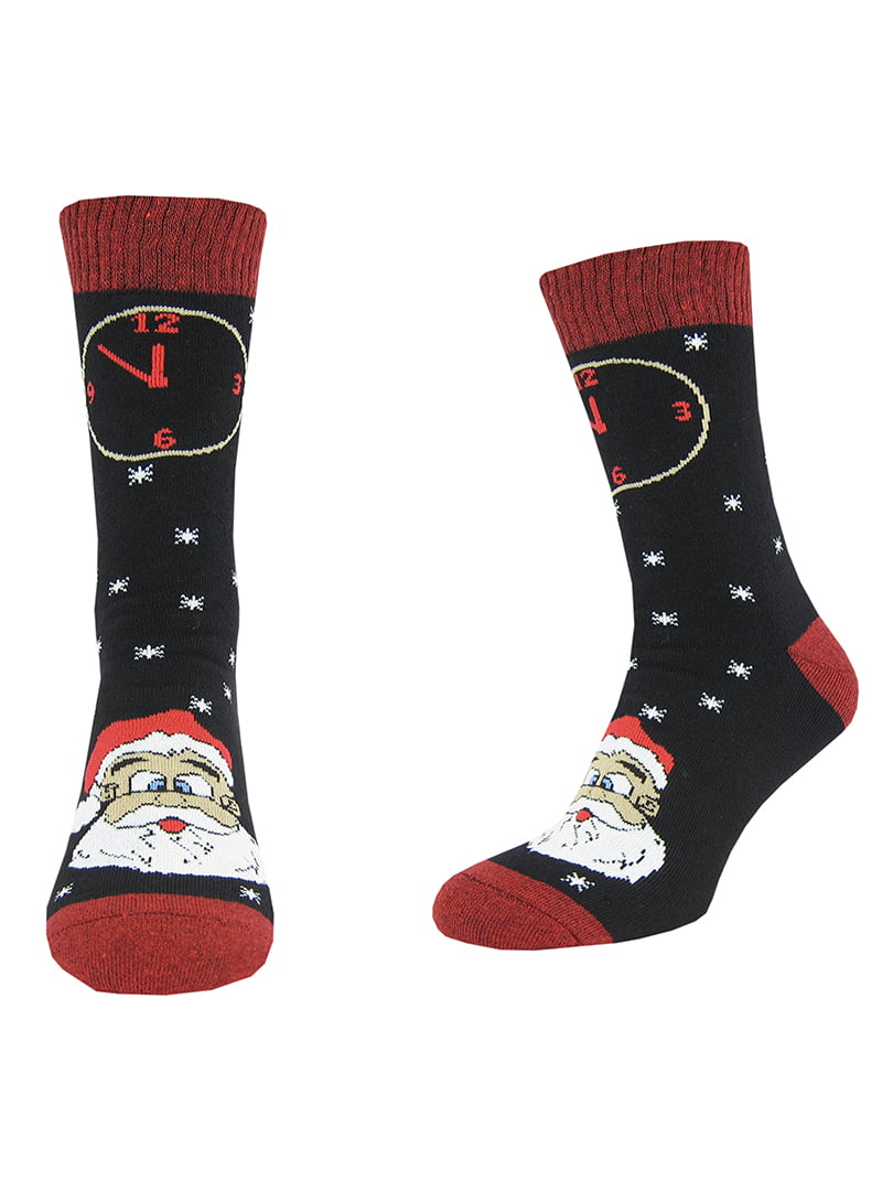 Шкарпетки чорно-червоні з малюнком | 5226249