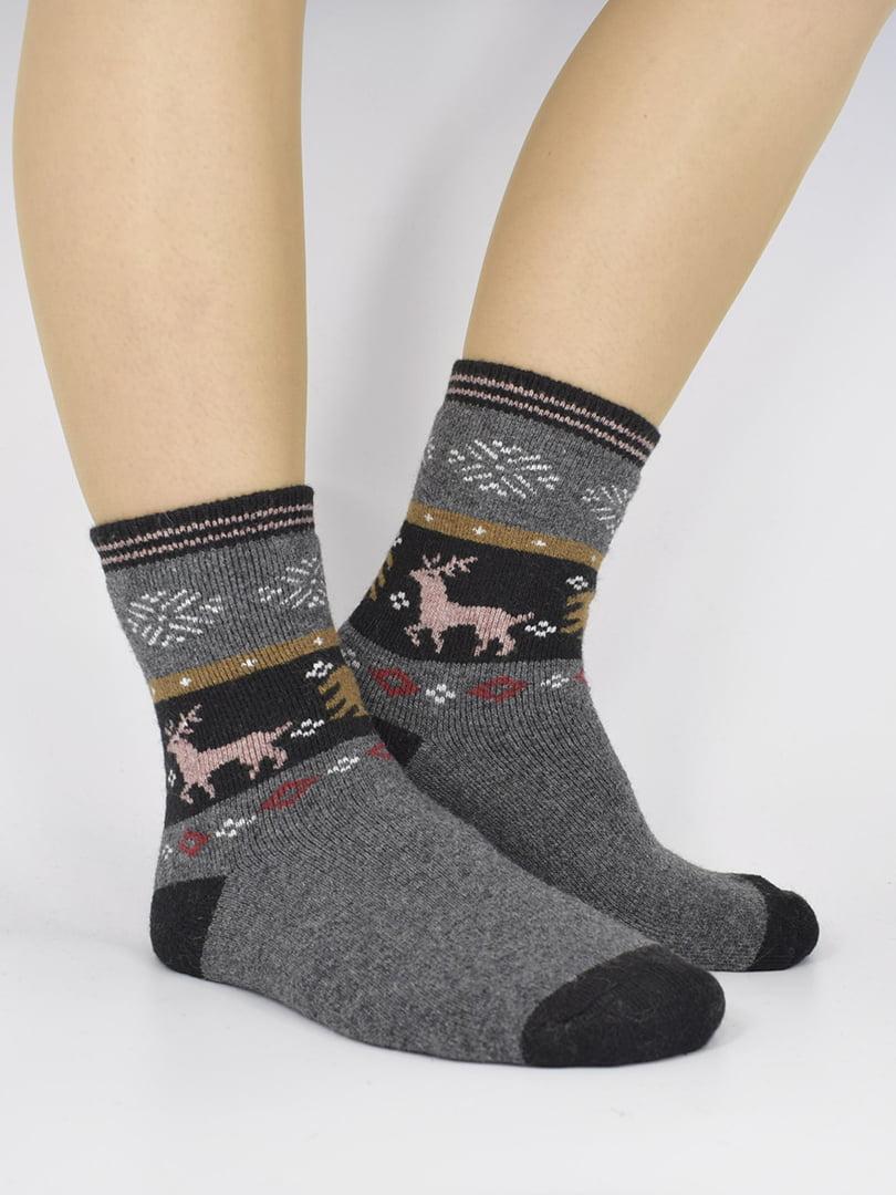 Шкарпетки сірі з малюнком   5226410