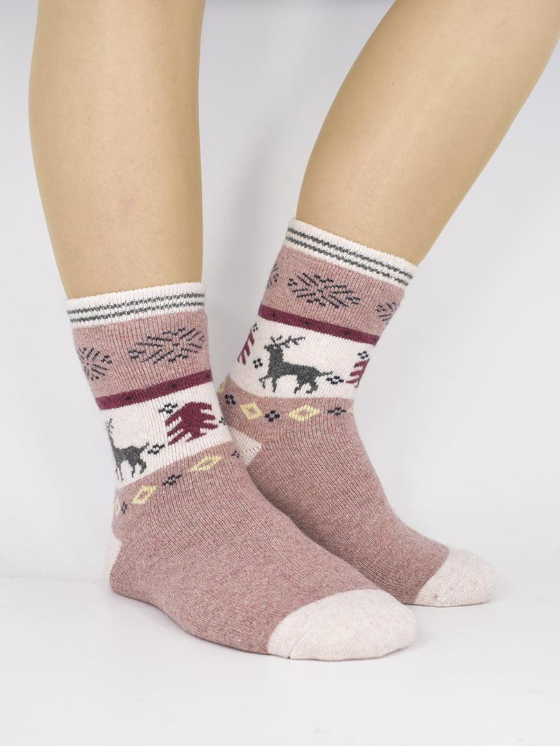 Шкарпетки рожеві з малюнком | 5226414