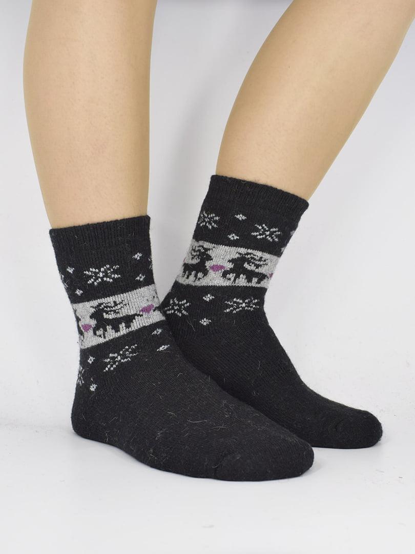 Шкарпетки чорні з орнаментом   5226450
