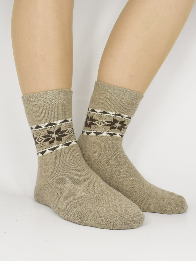 Шкарпетки бежеві з орнаментом | 5226501