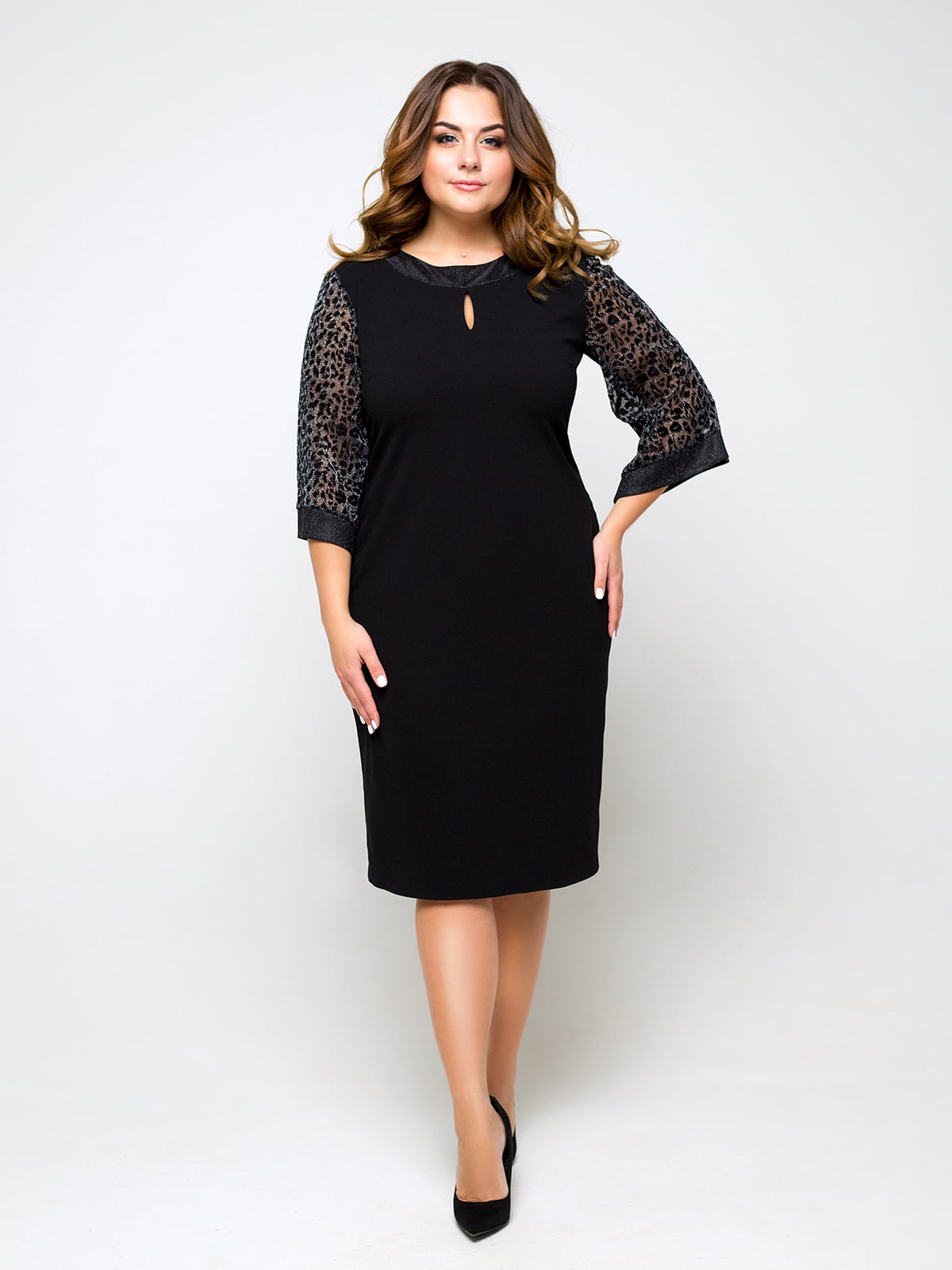 Платье черное с принтом | 5216876