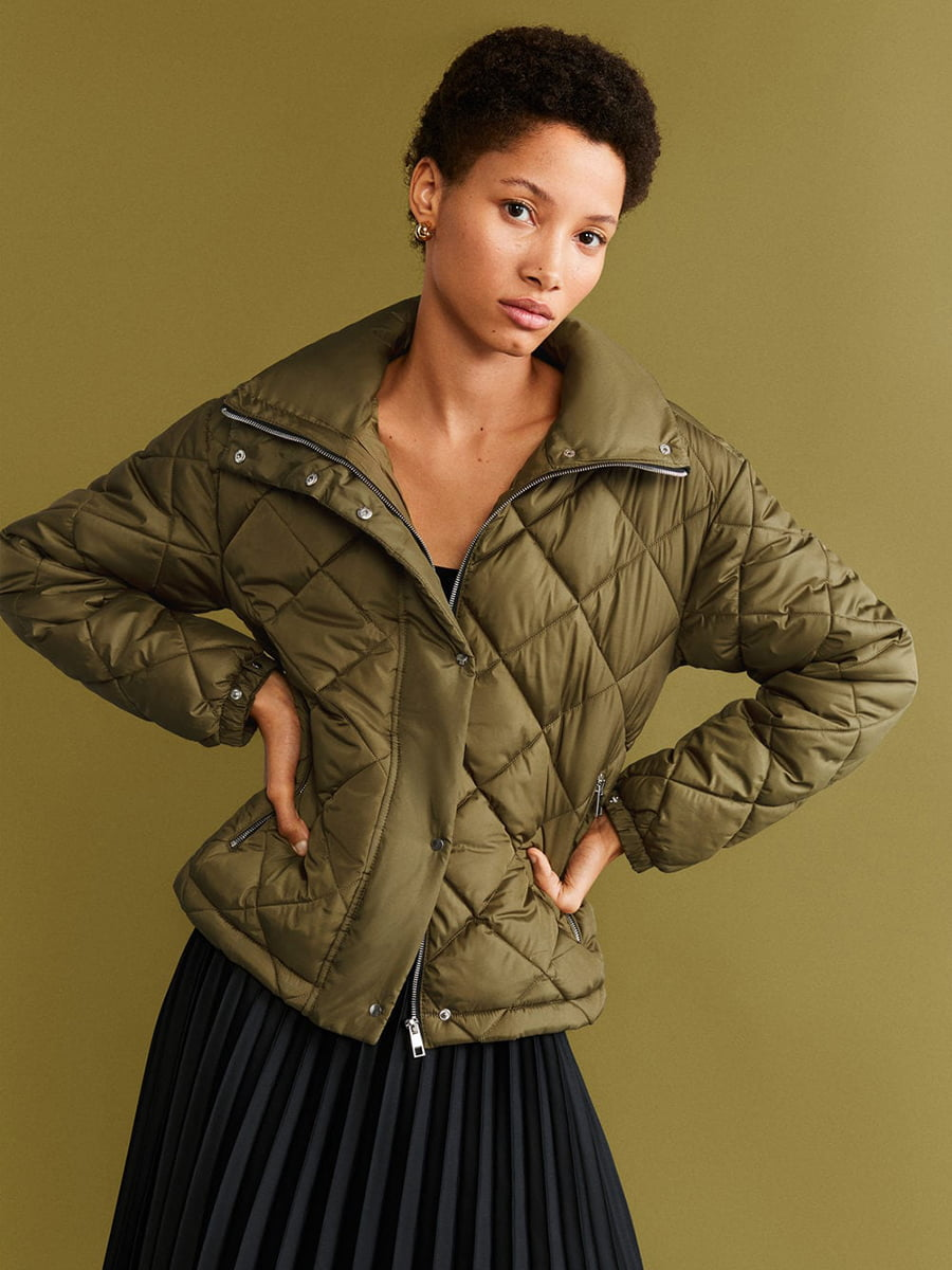 Куртка кольору хакі   5216430