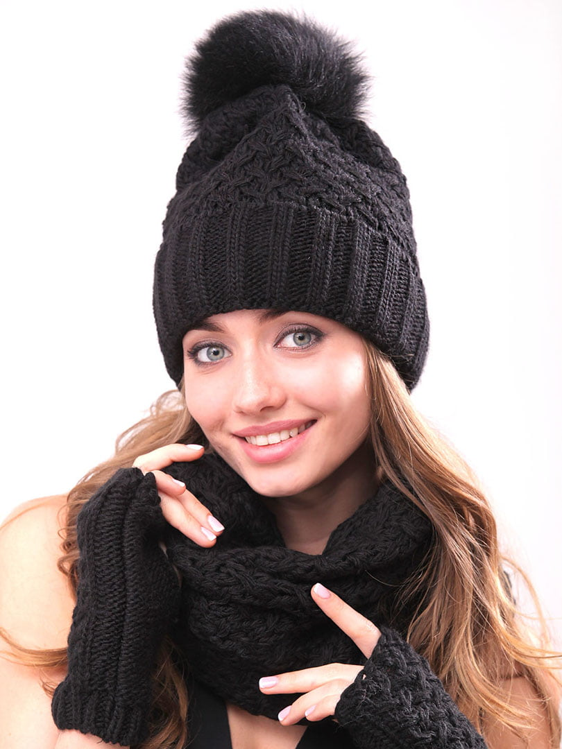 Комплект: шапка, хомут і рукавички | 5227691