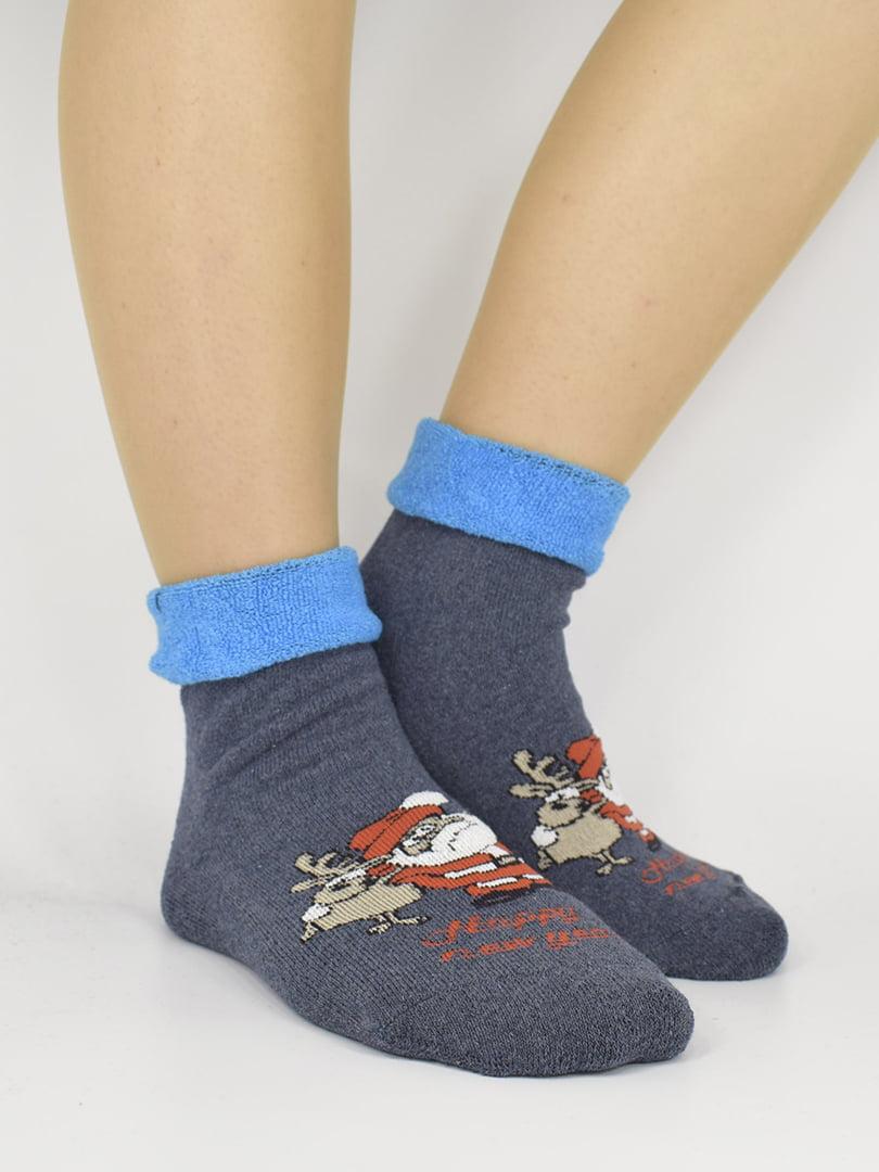 Шкарпетки сині з малюнком | 5226305