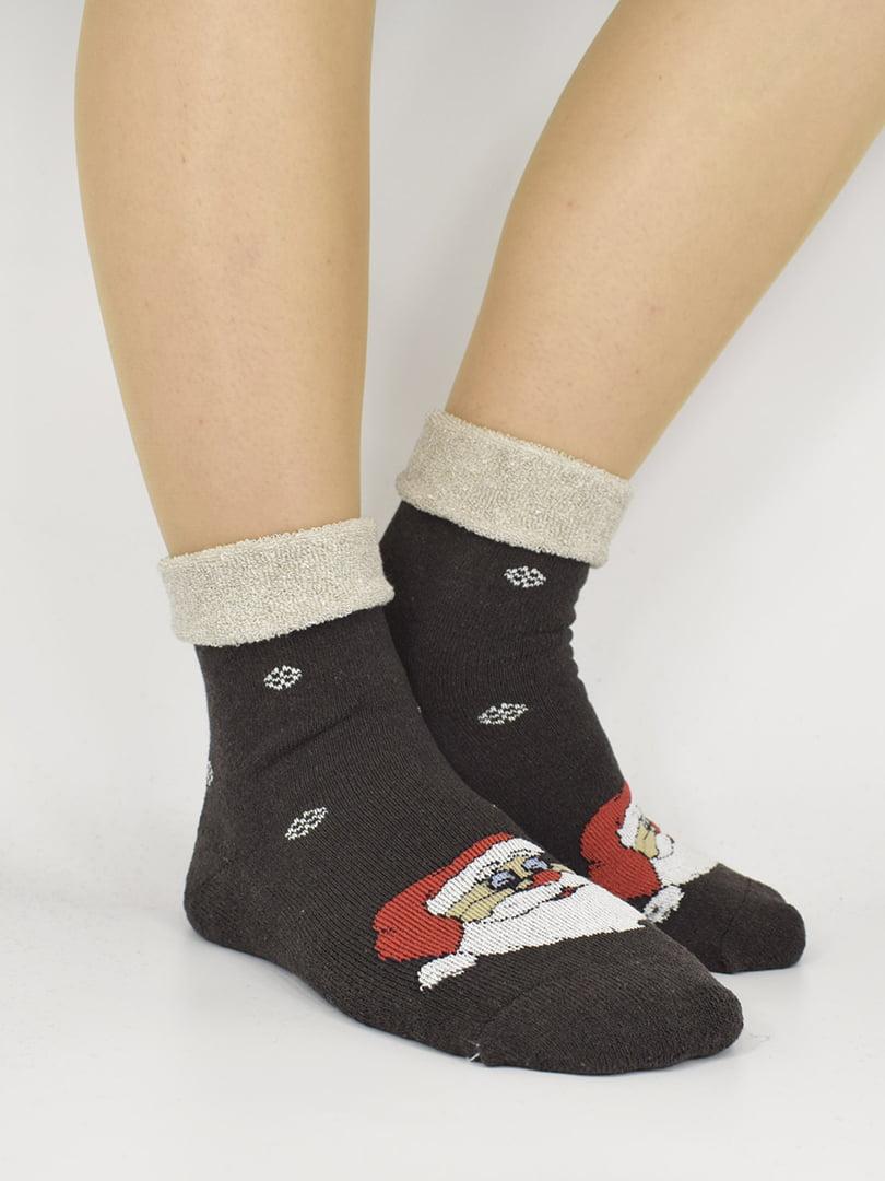 Шкарпетки чорні з малюнком | 5226314