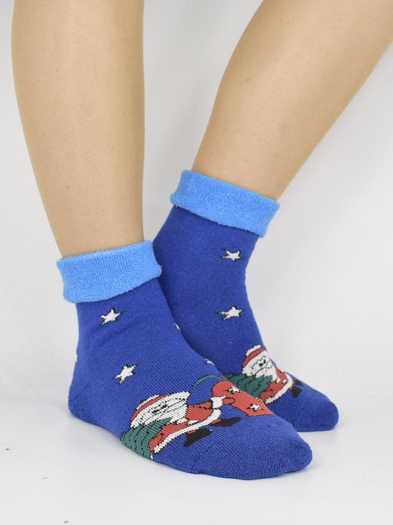 Шкарпетки сині з малюнком | 5226348