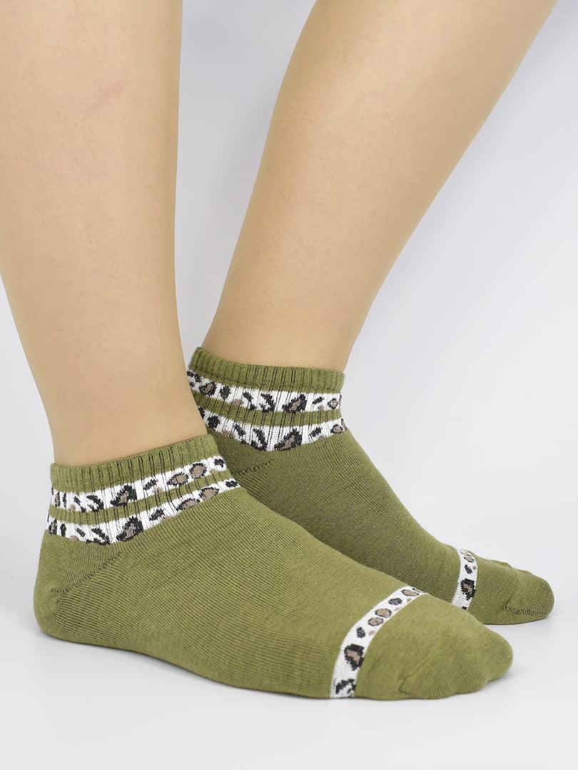 Шкарпетки болотного кольору з малюнком   5226148