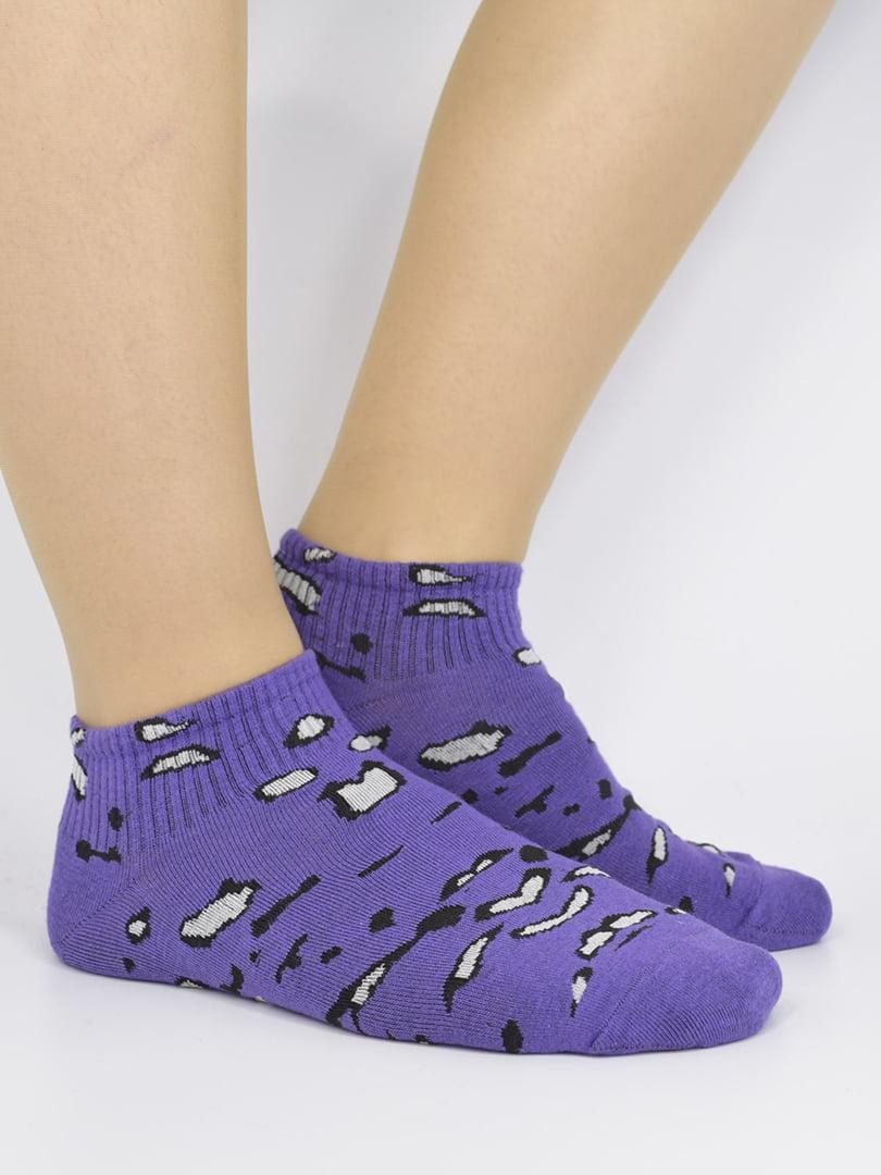 Шкарпетки фіолетові з малюнком | 5226171