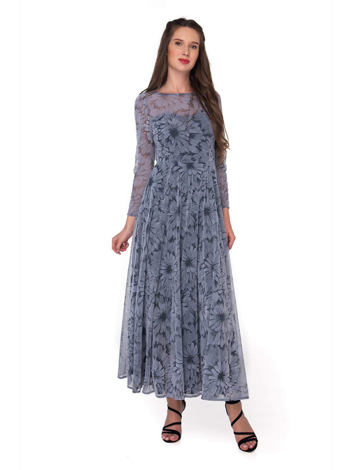 Платье серое с принтом | 5227804