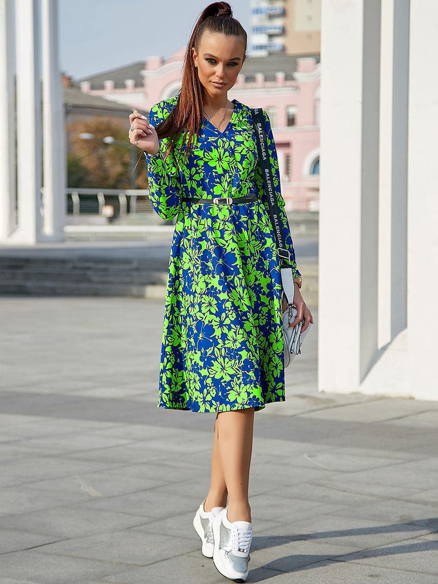 Платье с цветочным принтом | 5228420