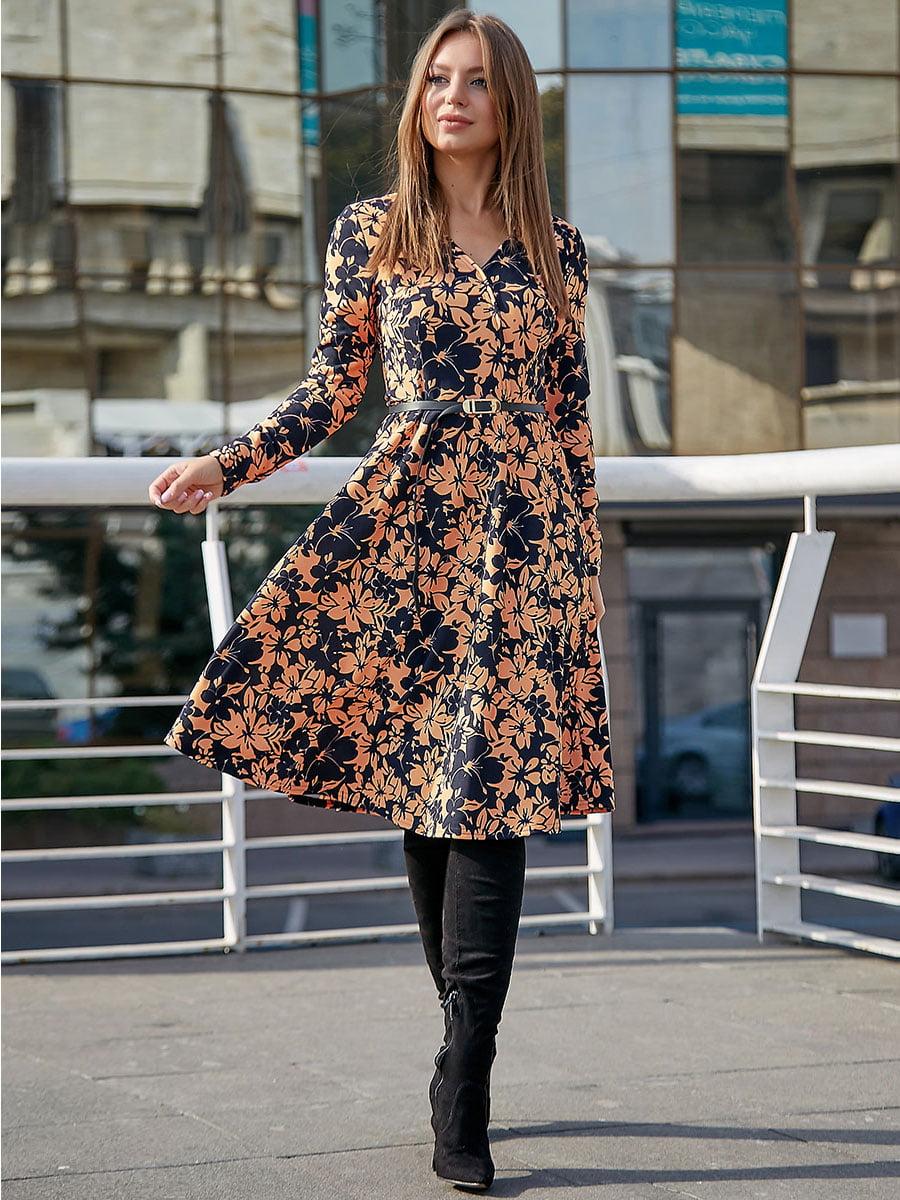 Платье с цветочным принтом | 5228423