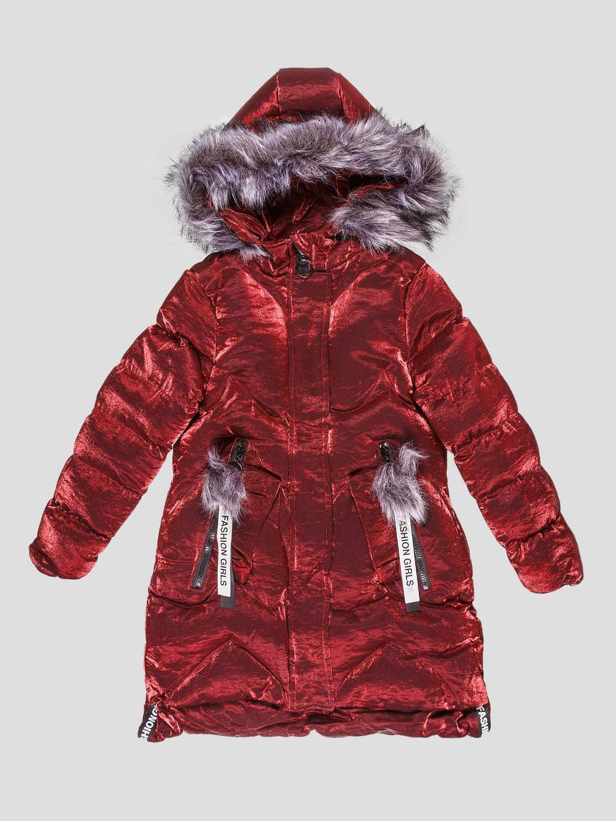 Пальто бордовое | 5228746