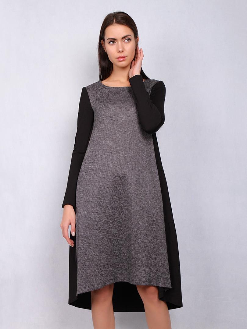 Платье серо-черное | 5109817