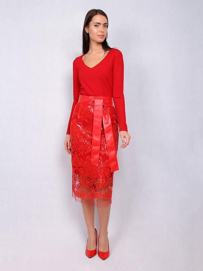 Платье красное | 5109824