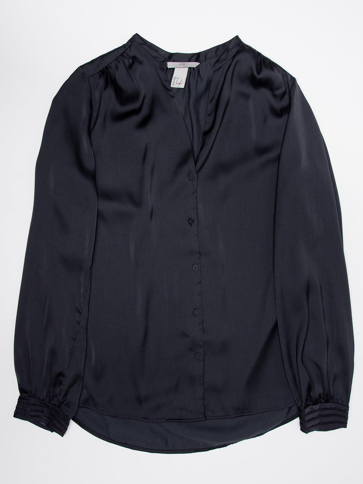 Блуза темно-синяя   5177639