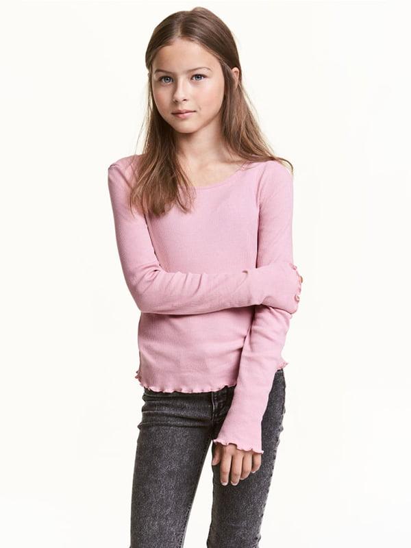 Лонгслів рожевий | 5231357