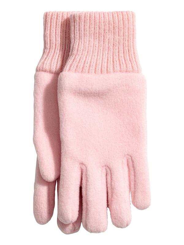 Рукавички рожеві флісові   5231433