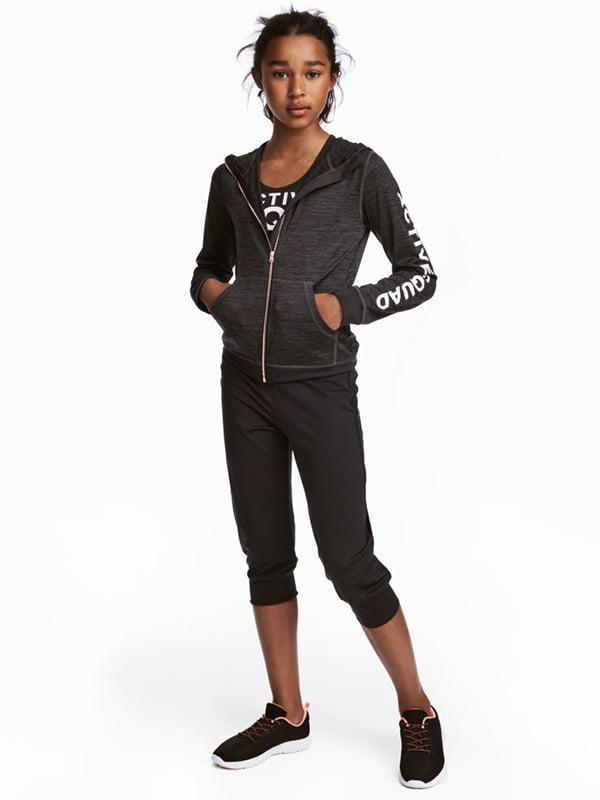 Бриджі чорні спортивні | 5231443