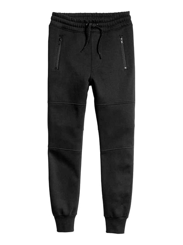 Штани чорні з начосом спортивні | 5231474